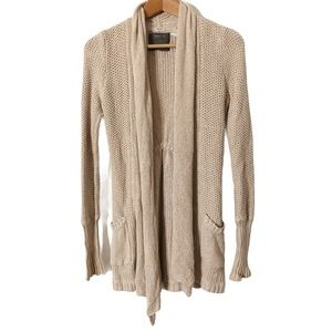 Anthropologie Guinevere Tan Knit Cardigan Size S
